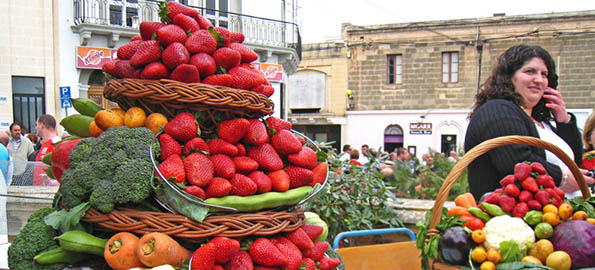 Larger than life: Mgarr's giant strawberries.