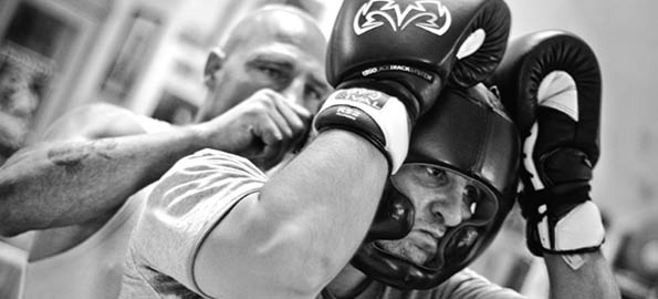 Psyching up for the fight. Boxer training, Bormla, Malta.