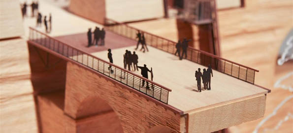 Model men in a remodelled Valletta.  Renzo Piano's plans for City Gate.