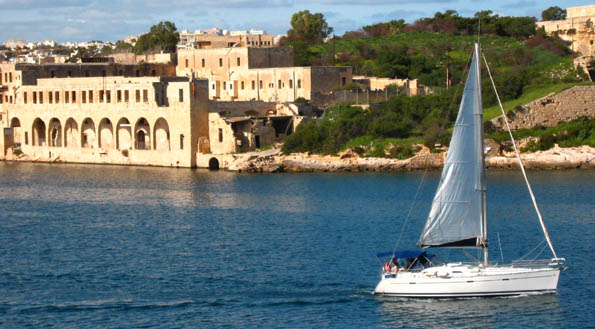 Valletta's harbours, a mix of history and safe haven for the novice sailor