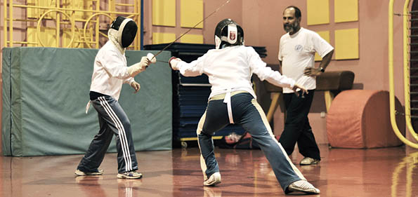 The noble sport of fencing. Recalls Malta's history under the Knights.
