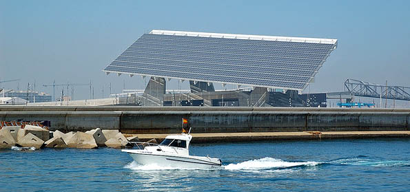 Barcelona Port Forum, solar energy plant. Shape of things to come in Malta?