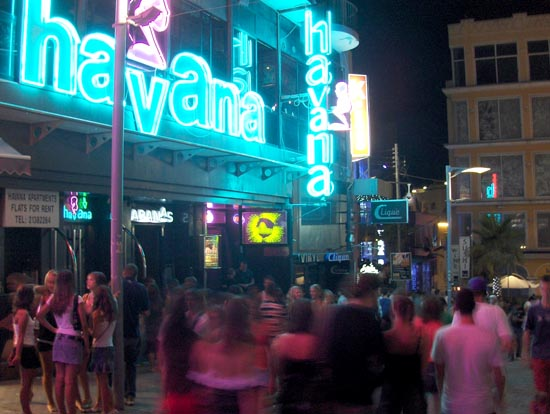 Paceville,Malta's nightlife hotspot. Photo: Spacing Magazine