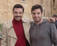 Dominic Cooper (right) with David