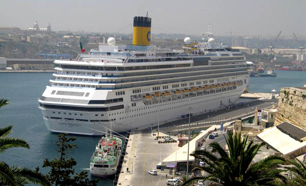 Costa Concordia in Valletta. Photo: Robert G. Henderson