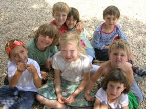 Children at a Waldorf School in Spain