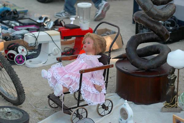 vintage doll at Birgu flea market, Malta