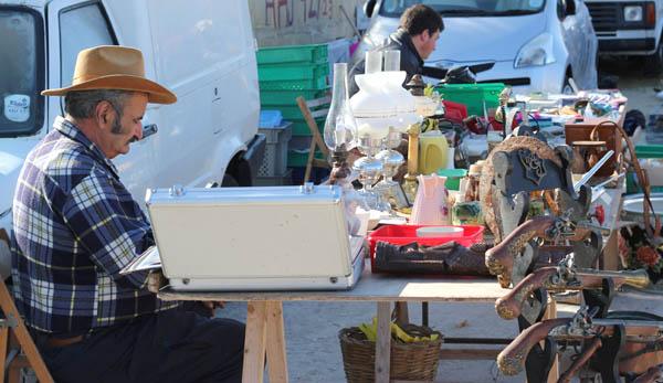 Birgu flea market stall, Malta