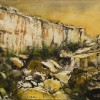 Entitled simply &#039;Rdum&#039;, ithis is a scene of Dingli Cliffs by Tonio Mallia