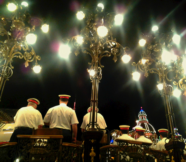 Band stand, bright lights, big brass.