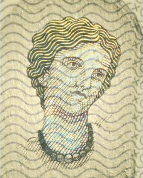 Face of Europa on Euro notes