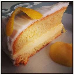 lemon cake at Figo