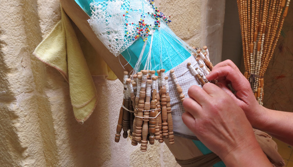 Lace-making in Nadur, Gozo, Maltese Islands