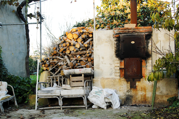 Open-air wood oven on Maltese farm