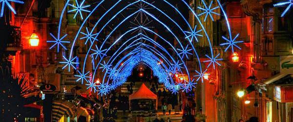 Christmas lights, Republic St, Valletta, Malta