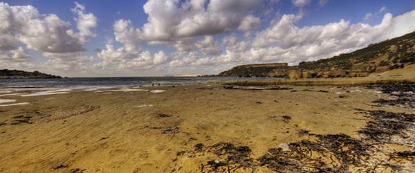 Malta, beaches in winter