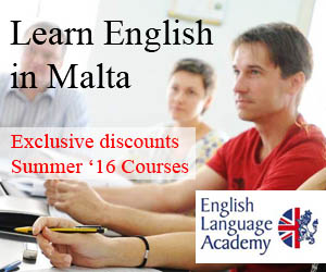 English Language Academy, Malta. Summer courses 2016