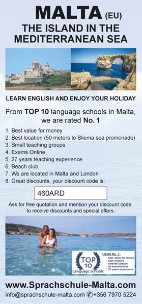 English Language Academy Malta discount